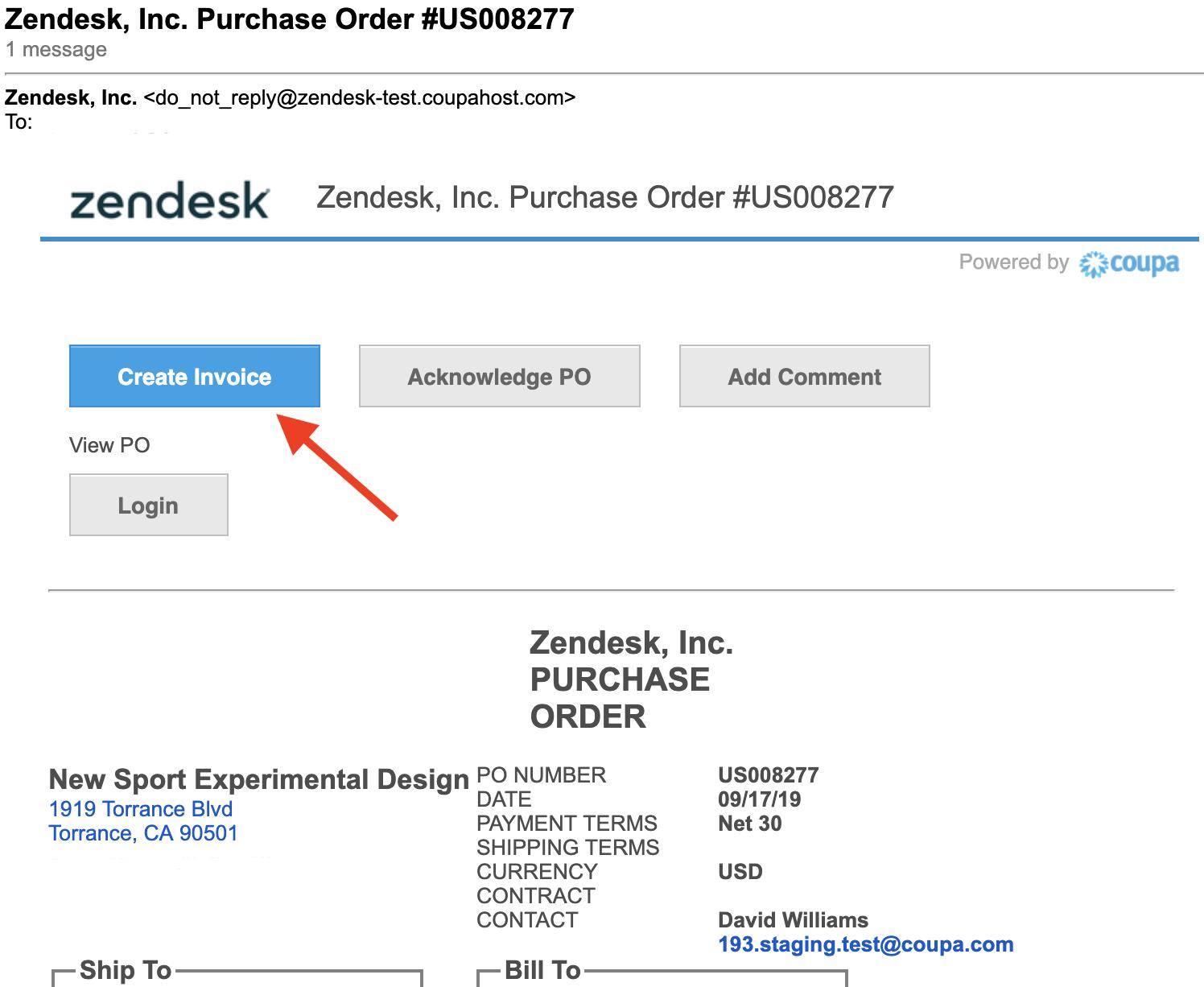 Creating e invoices – Zendesk Supplier